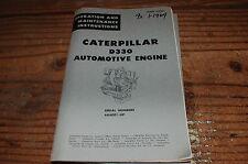 CATERPILLAR D330 Diesel Engine Owner Operator Operation Maintenance Manual 1964