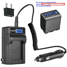 Kastar Battery LCD AC Charger for Sony NP-QM91D & Cyber-shot DSC-F828 DSC-R1