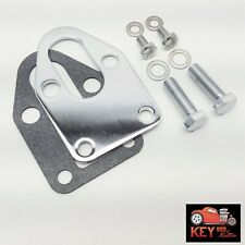 Small Block Chevy Chrome Fuel Pump Mounting Plate With Bolts Sbc 327 305 350 400