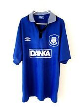 Everton Home Shirt 1995. Large. Umbro. Blue Adults Short Sleeves Football Top L.