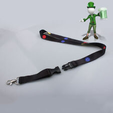 Happy Face Black Neck Lanyard Strap Cell Mobile Phone ID Card Key chain