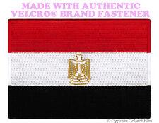 EGYPTIAN FLAG PATCH EGYPT EMBROIDERED ARAB EMBLEM new w/ VELCRO® Brand Fastener