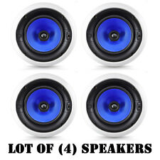 "Lot of (4) Pyle PIC6E In-Wall/Ceiling High Performance Dual 6.5"" Speaker System"