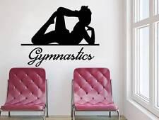Gymnastics Wall Decal Girl Sport Dancer Vinyl Sticker Decals Bedroom Decor NV143