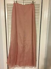 Laundry By Shelli Segal 100% Silk Maxi Skirt Sz. 8 Pink/Mauve *Reduced