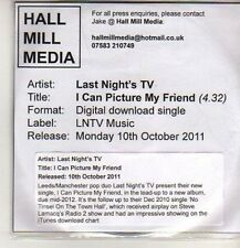 (DB629) Last Night's TV, I Can Picture My Friend - 2011 DJ CD
