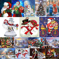 5D DIY Full Drill Diamond Painting Christmas Santa Claus Embroidery Decor Gifts