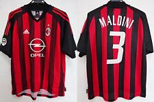 2002-2003 AC Milan Rossonero Jersey Shirt Maglia Home OPEL Adidas Maldini #3 L