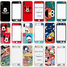 Prism Disney Cartoon Case Cover+Tempered Glass For iPhone XS MAX XR  8/7/6 Plus