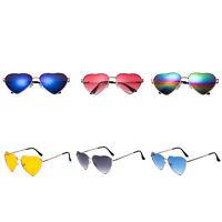 Fashion Classic Retro Metal Love Peach Heart Shape Sunglasses Men Women