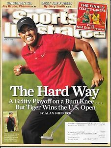 Sports Illustrated TIGER WOODS 2008 US Open PMS - Personal Mail Sticker MINT