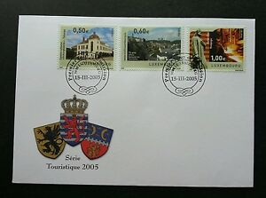 Luxembourg Tourism 2005 Office Monument Building (stamp FDC)