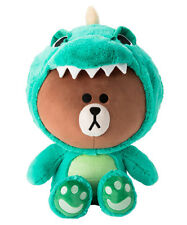 [LINE FRIENDS]DINO BROWN Bear Character Plush Doll 45cm/17.7Inch Official Goods