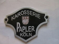 Nameplate Body papler Köln SHIELD BADGE FORD DATA PLATE ID S22