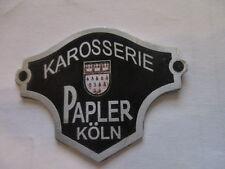 Nameplate Body Papler Köln Shield Badge ford data plate ID S22