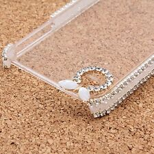 Cover case protettiva rigida per iPhone 4 4s trasparente con brillantini glitter