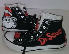 "Converse Chuck Taylor All Star ""Dr Seuss Cat in the Hat"" High Top - Sz 3 Junior"