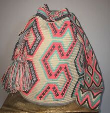 MOCHILA WAYUU LARGE HANDMADE Colombian CROSSBODY SHOULDER BAG NEW