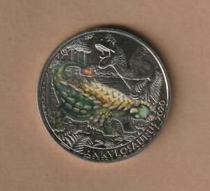 """3 Euro Sondergedenkmünze 2020 """"Ankylosaurus"""" SZ7095 AMK.Nr.16 hgh"""