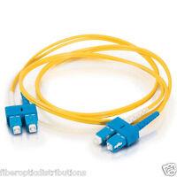 1.5 M SC-SC Duplex 9/125 Singlemode Fiber Optic Patch Cable Cord (Yellow)- 3646