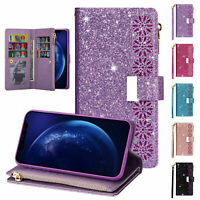 For Samsung S20 FE/Note 20/A51 A17 5G Bling Flip Leather Card Wallet Case Cover