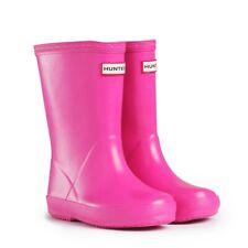 SALE New Hunter Kids First Girls Wellies Wellington Boots Lipstick Pink Size 6