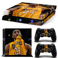 Kobe Bryant 24 Decal Cover Skin Sticker for Playstation 4 Console + 2 Controller