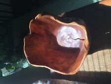 Large    burl wood bowl 13 x 10 x 8 inches