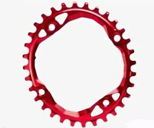 ABSOLUTE BLACK NARROW WIDE 36T OVAL 104MM SINGLE CHAINRING MTB  SPROCKET NW RED