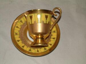 Höchst für Faberge seltene, limitierte Sammeltasse mit UT, gelb/gold, 1500 St.