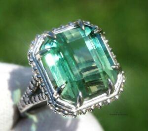 Tourmaline Ring Gold Diamond Natural GIA Certified 14.48CTW RETAIL $13700