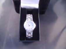 BULOVA LADIES DIAMOND ACCENTED STAINLESS STEEL  WATCH  RETAIL 399.00 96R04