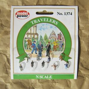 NEW ~ TRAVELERS Figures by Model Power ~ Mayhayred Trains N Scale Lot
