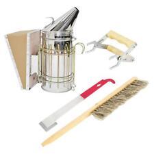 4pcs Stainless Steel Beekeeping Kit Hive Bee Smoker Sprayer Apiculture Tool