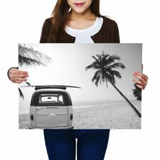 A2 - Surf Bus Van Surfer Surfing Poster 59.4X42cm280gsm(bw) #38139