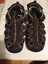 Falls Creek Sportsman Olive Size 9 Mens Sandals outdoor hiking beach boat shoes
