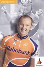 CYCLISME carte cycliste GRAEME BROWN équipe RABOBANK