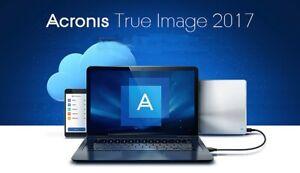 Acronis True Image 2017 USB Data Backup/Restore -Clone -Copy -Migrate incl SSD