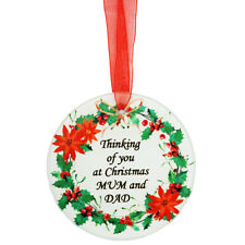 Nan Christmas Robin Memorial  Tree Hanging Decoration Gift Plaque Momento Tribut
