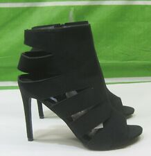 "new lady Black 4.5""Stiletto Heel PEEP TOE Sexy Shoes Size  11"