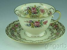 Vintage Rosenthal Continental Ivory 18 Cup and Saucer Floral & Gold