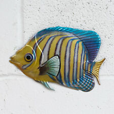 Angelfish Metal Fish 3D Wall Art Nautical Bathroom Hanging Sculpture Ornament