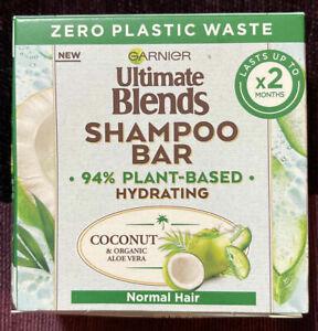 Garnier Ultimate Blends Shampoo Bar - Coconut & Organic Aloe Vera -60g UK NEW