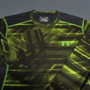 UNDER ARMOUR HEAT GEAR FITTED LONG SLEEVE SHIRT--L--AWESOME COLORS!!--