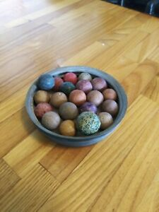 20  Antique clay marbles   (M4)