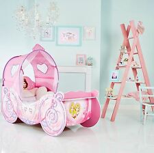 DISNEY PRINCESS CARRIAGE FEATURE TODDLER BED WITH PROTECTIVE SIDE GUARD FREE P+P
