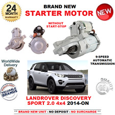 FOR LANDROVER DISCOVERY SPORT LC 2.0 4X4 STARTER MOTOR 2014-ON AUTO 9 SPEED