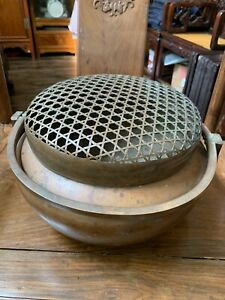 Chinese Antique  Big Bronze Foot Warmer Qing China Asian