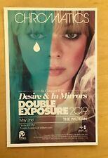 CHROMATICS Desire & In mirrors  LA Handbill may 2 19 wiltern