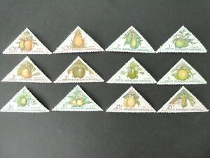 GABON 1962 Complete Set - FRUITS - 12 Postage Due Stamps - SGD196 to SGD207  MNH